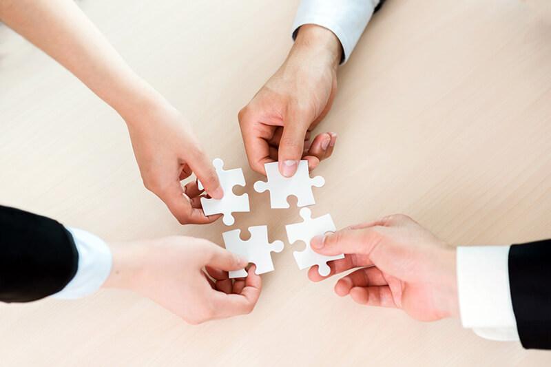 integratie 4 puzzelstukjes